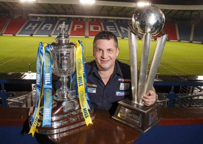 Gary Anderson with trophies