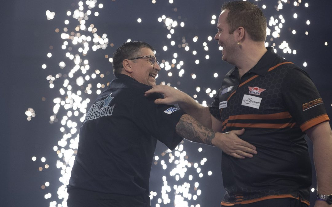 Awesome Anderson sets up World Darts Championship semi final spot