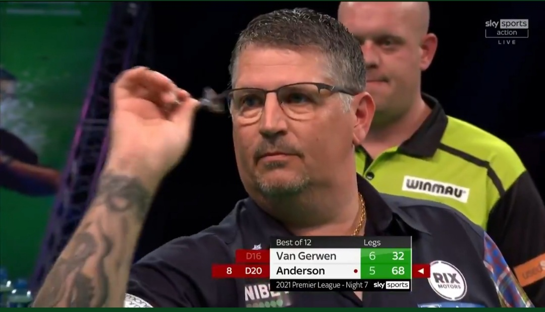Anderson fights back to grab huge Premier League Darts point